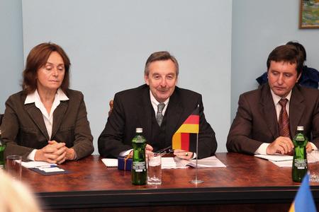 Odessa, Ukraine - November 23, 2010: Ambassador Extraordinary and Plenipotentiary of the Federal Republic of Germany in Ukraine, Dr. Hans-Jurgen Heimsoeth, November 23, 2010 in Odessa, Ukraine.