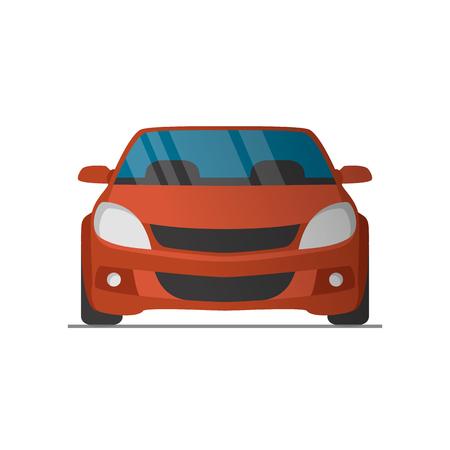 Illustration pour Vector sports red car front view illustration - image libre de droit