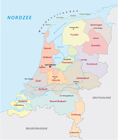 netherlands administrative map