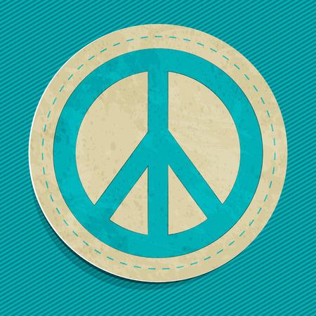 vector peace sticker