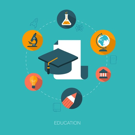 modern vector education concept illustration