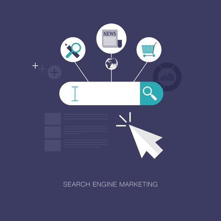 vector modern search engine marketing concept illustration