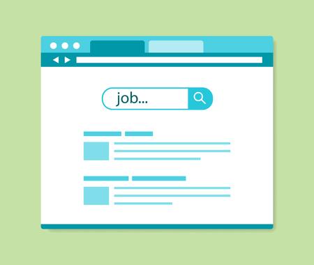 Illustration pour flat design online job search results, vector illustration - image libre de droit