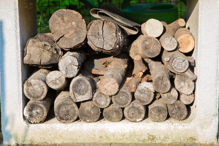 Dry firewood carefully prepared for fireplace and stove