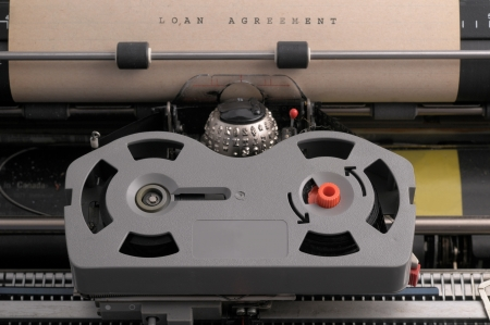 Loan Agreement typed on old typeweriter