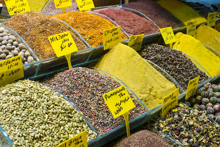 Sweets and spices on the Egyptian bazaar in Istanbul