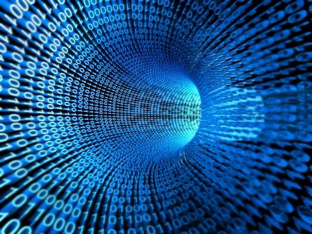 Photo pour Binary stream, flow of information - image libre de droit