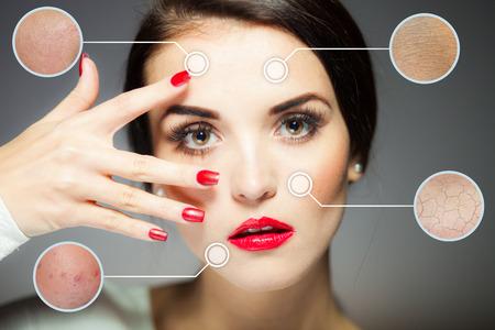 Photo pour Beauty face concept, anti aging procedures on facial skin - image libre de droit