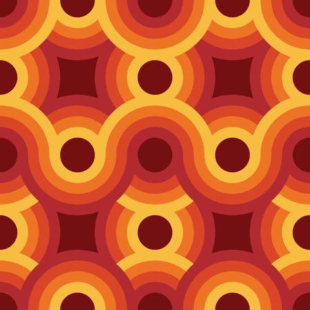 Foto de Seamless geometric vintage wallpaper, vector illustration - Imagen libre de derechos