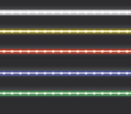 Colorful led light stripes
