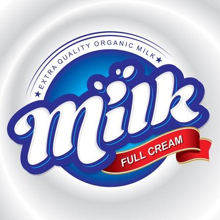 milk packaging design, hand lettering (vector)