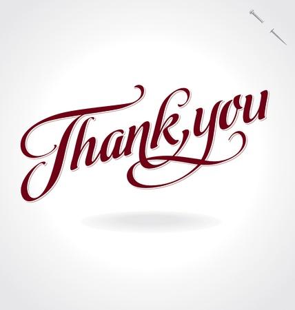 Illustration pour thank you hand lettering - image libre de droit