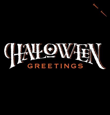 Halloween Greetings hand lettering
