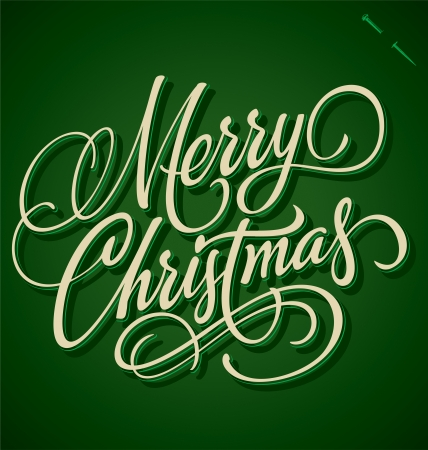 MERRY CHRISTMAS hand lettering - handmade calligraphy