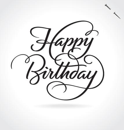 Illustration pour HAPPY BIRTHDAY lettering - image libre de droit