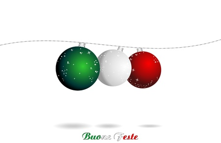christmas italian background, ball flag
