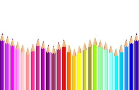 Foto per matite sfondo colorato - Immagine Royalty Free