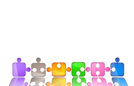 puzzle colorato