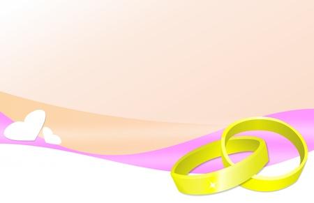 Foto per sfondo romantico con anelli di nozze - Immagine Royalty Free