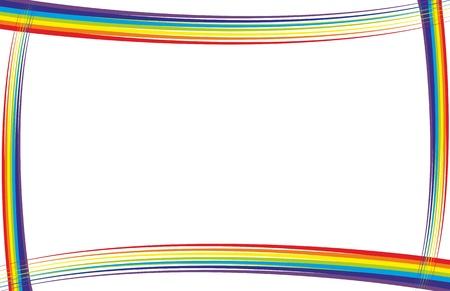 rainbow frame vector