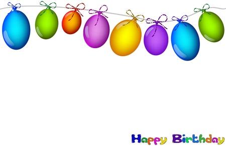 Foto per sfondo con palloncini colorati  - Immagine Royalty Free