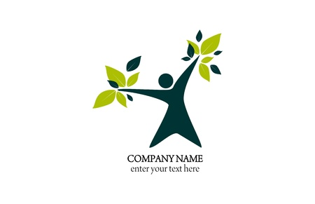 Logo abstract - natural health and wellness