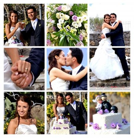 Foto de Collage - the best moments of the wedding - Imagen libre de derechos