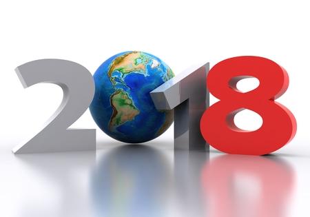 Photo pour New Year 2018 Background - 3D - image libre de droit