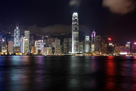 Photo for Hong Kong skyline at night - Royalty Free Image