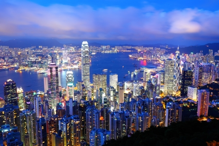 Photo for Hong Kong at night - Royalty Free Image