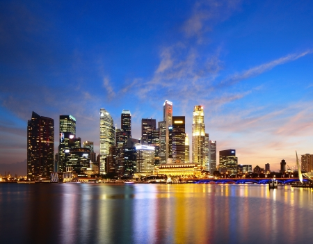 Foto per Singapore skyline  - Immagine Royalty Free