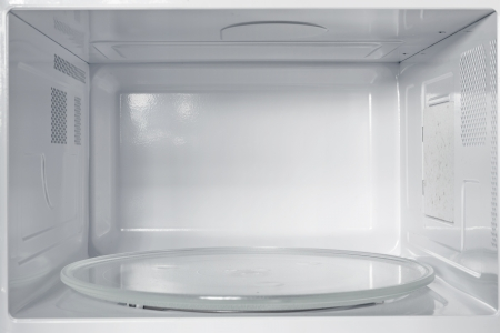 Inside of the microwave oven