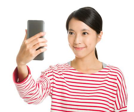 Asian girl selfie
