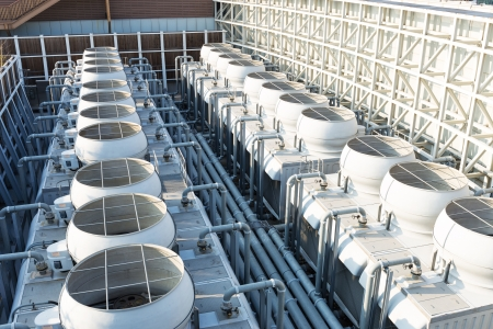Cooling tower at roof top
