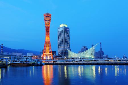 Photo pour Kobe skyline - image libre de droit