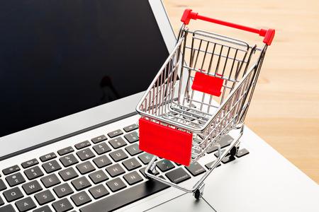 Cart on a laptop