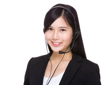 Asian call center operator