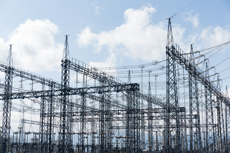 Photo for high voltage substation - Royalty Free Image