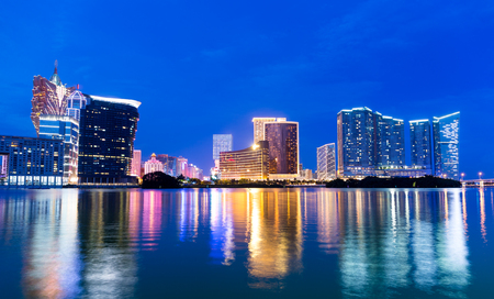 Macao city at night