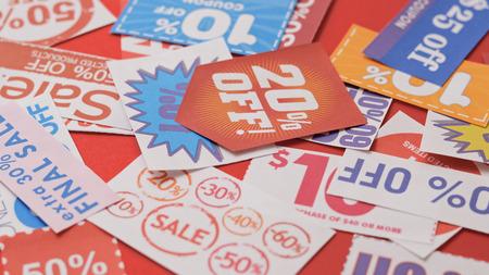 Photo pour Group of discount coupon  - image libre de droit