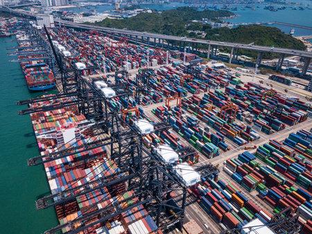 Photo for Kwai Tsing, Hong Kong, 02 May 2018:- Terminal container port in Hong Kong - Royalty Free Image