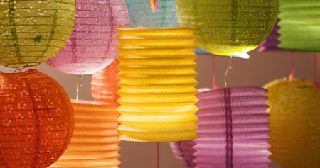 Foto de Traditional chinese lantern for mid autumn festival - Imagen libre de derechos