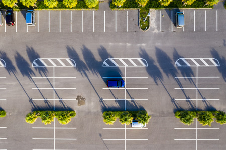 Photo for Top down of car park at outdoor - Royalty Free Image