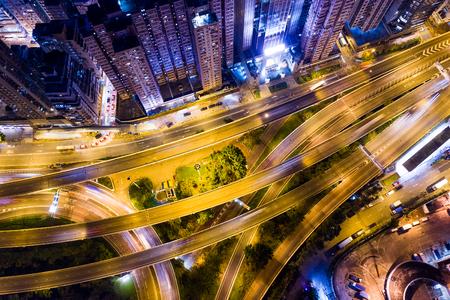Photo pour Hong Kong city at night - image libre de droit