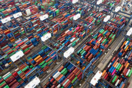 Photo for Kwai Tsing, Hong Kong, 09 October 2018:- Kwai Tsing Container Terminals in Hong Kong - Royalty Free Image
