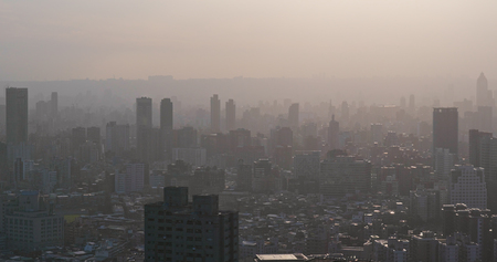 Foto de Air pollution of taipei city - Imagen libre de derechos