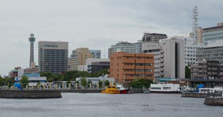 Foto für Yokohama, Japan, 30 June 2019: Yokohama city in the evening - Lizenzfreies Bild