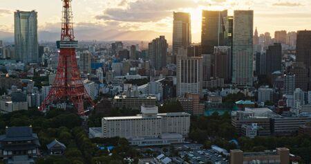Photo pour Tokyo, Japan, 26 June 2019: Tokyo city at sunset time - image libre de droit