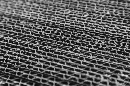 the texture of the cardboard box in a cut black and white