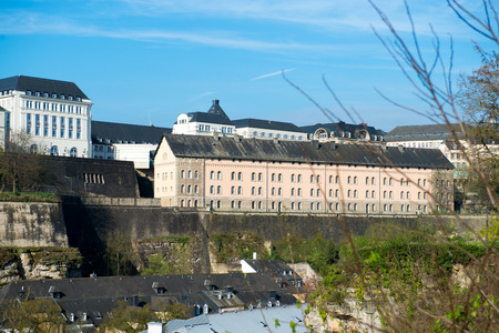 View of Luxembourg historical city center